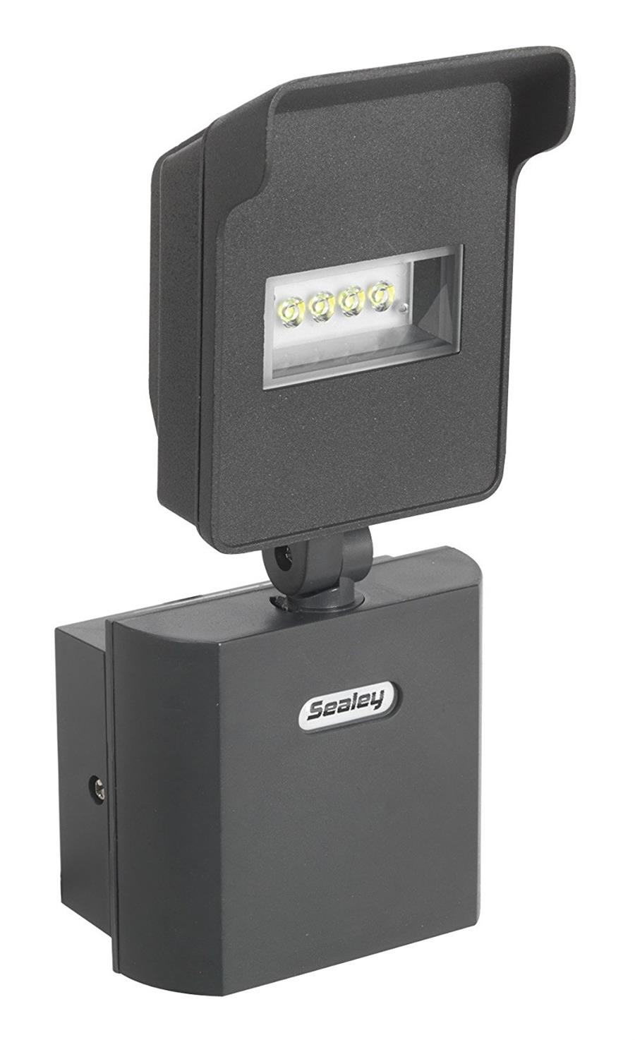 Sealey LED045 10 W LED 230 V Floodlight with Swivel Head and Wall Bracket