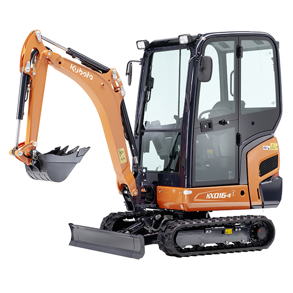 Kubota KX016-4 Excavator; Cabin; Rubber Tracks; Variable Undercarriage