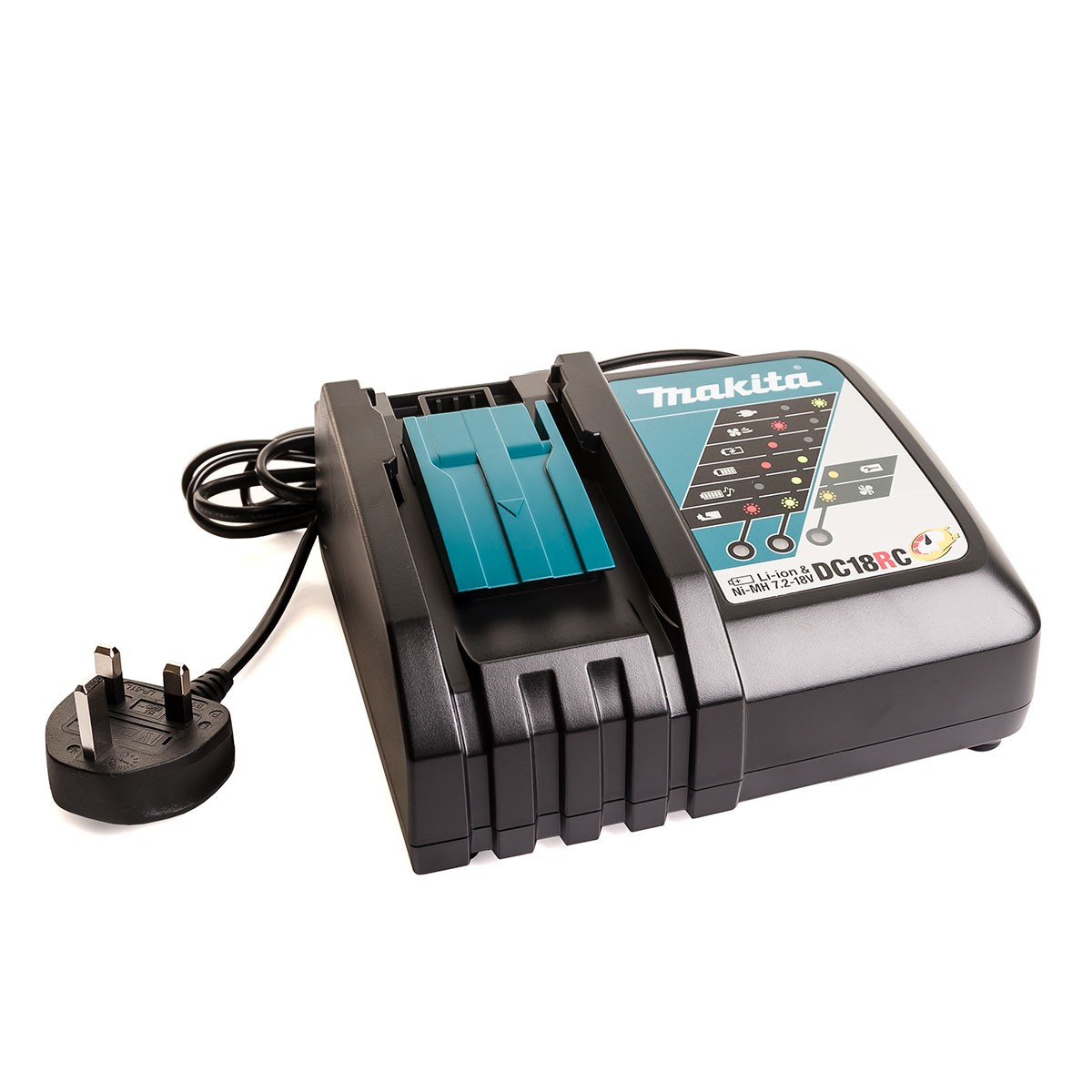 Makita DC18RC 18v Li-Ion Fast Battery Charger 7.2-18v