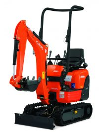 Kubota K008-3 Mini Excavator; 2 Post Front Mounted ROPS Frame; Rubber tracks