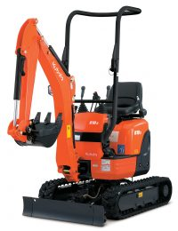 Kubota Excavator U10-3 Mini Excavator; 2 Post Front Mounted ROPS Frame; Rubber Tracks