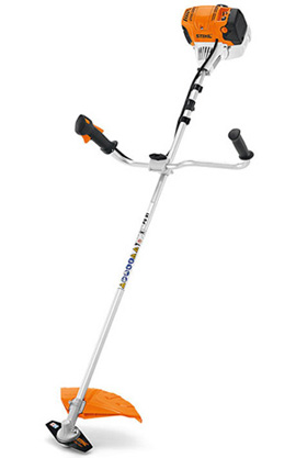 STIHL FS91 Petrol brushcutter for landscape maintenance with 4-MIX engine and bike handle