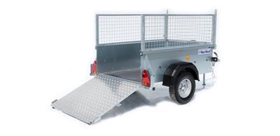IFOR WILLIAMS P5E Single Axle unbraked Trailer with loading ramp